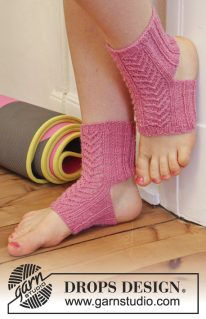 DROPS Extra-0-1091 - Носочки для йоги: Раджа