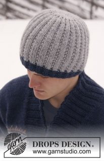 DROPS Extra 0-814 - Классическая мужская шапка