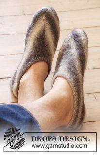 DROPS 0-900 - Мужские тапки-носки