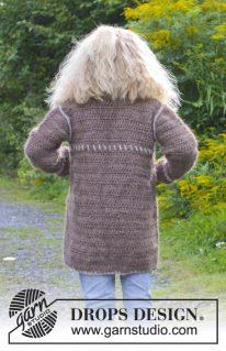 DROPS Extra-0-938 - Пальто и шапка: Матильда