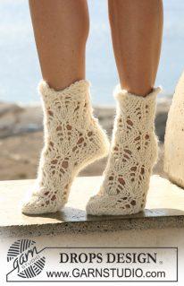 DROPS 106-33 - Ажурные носочки