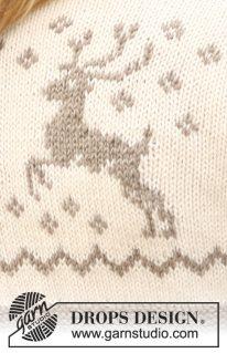 DROPS 122-10 - Кофта с оленями «Oh Deer!»
