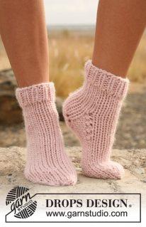 DROPS 129-33 - Носочки платочной вязкой