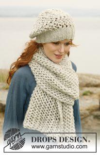 DROPS 132-26 - Набор из шарфа и шапки