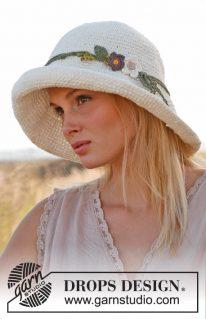 DROPS 146-32 - Шляпа крючком: Марлен