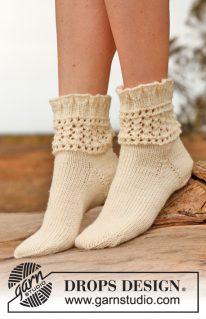 DROPS 146-38 - Вязаные носочки: Хрустальные