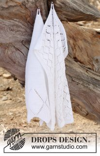 DROPS 147-25 - Вязаные спицами полотенца «Чаепитие»
