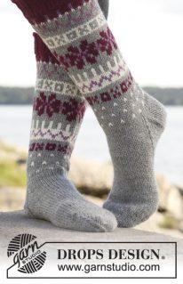 DROPS 150-18 - Сентябрьские носочки спицами