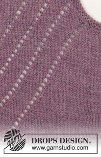 DROPS 156-36 - Джемпер «Виноградная лоза»