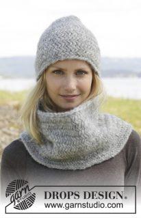 DROPS 158-34 - Комплект из шапки и снуда: Эмми Грей
