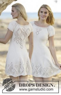 DROPS 160-1 - Платье Летние чувства