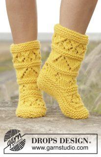 DROPS 170-9 - Лимонные носочки