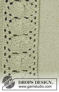DROPS 175-25 - Кофточка: Листочки Ивы