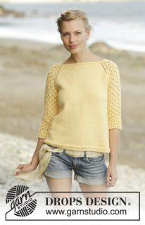 DROPS 176-5 - Пуловер: Медовое цветение