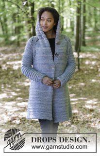 DROPS 181-30 - Жакет-пальто с капюшоном «Reine»