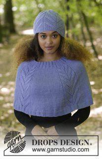 DROPS 182-18 - Комплект из шапки и пончо «Лейла»