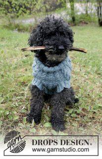 DROPS 185-33 - Джемпер для собаки: Barking Cables