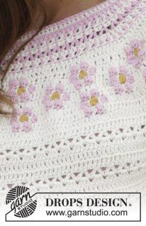 DROPS 188-8 - Джемпер: Маленький цветок