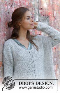 DROPS 195-25 - Пуловер: Mellow Monday