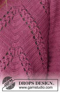 DROPS 196-20 - Пуловер: Flora Viola