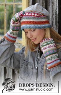 DROPS 196-8 - Шапка и рукавицы: Счастливая зима