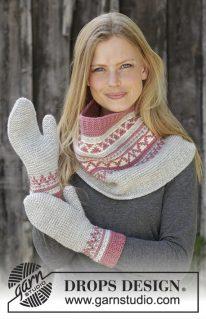 DROPS 197-17 - Снуд и рукавицы: Hint of Heather Set