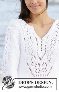 DROPS 199-2 - Платье: Белая жемчужина