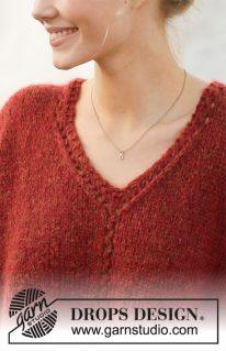 DROPS 202-27 - Пуловер: Robin Song