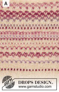DROPS 210-9 - Джемпер «Весенние фьорды»