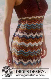 DROPS 68-23 - Платье «Русалка на пляже»