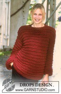 DROPS 72-17 - Вязаный спицами пуловер