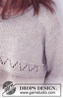 DROPS 74-15 - Укороченный пуловер в стиле оверсайз «Катарина»