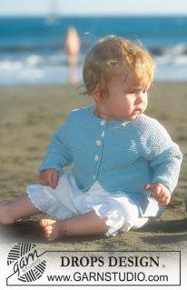 DROPS Baby 10-8 - Жакет с регланом
