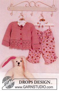 DROPS Baby 11-2 - Летняя кофточка для малышки