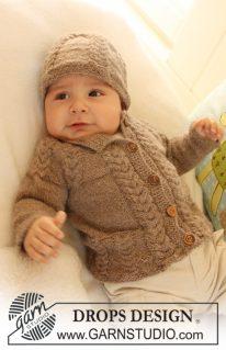 DROPS 19-17 - Комплект для малыша: Маленький каштан