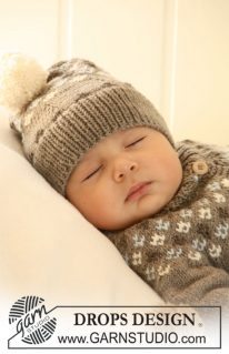 DROPS 19-33 - Жаккардовый комплект для малыша