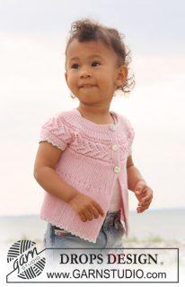 DROPS Baby-20-14 - Кардиган: Нова