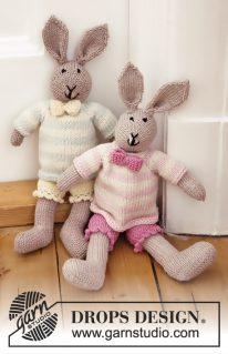 DROPS Baby-25-36 - Вязаная игрушка: Миссис Кролик