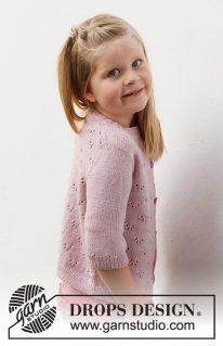 DROPS Baby & Children-38-22 - Кардиган «Розовый пони»