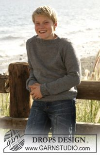 DROPS Små 15-4 - Пуловер для мальчика