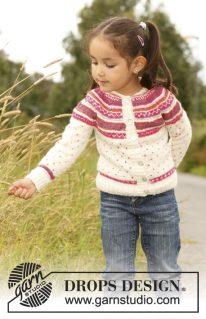 DROPS Children-22-4 - Жакет: Красивый цветок