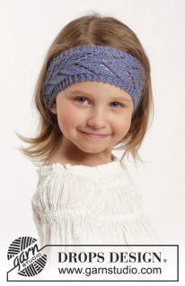 DROPS Children 26-6 - Платье и лента на волосы Wendy Darling