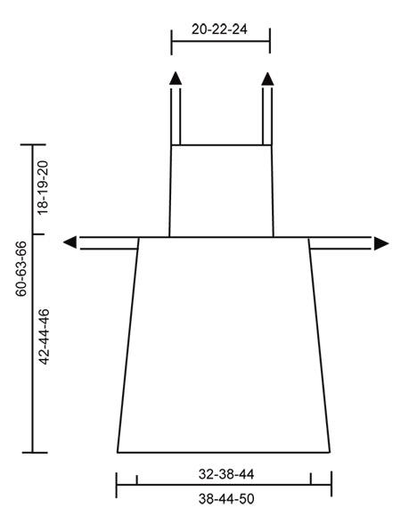 Выкройка вязаного фартука от