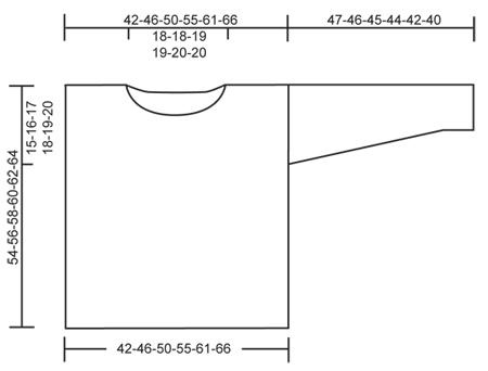 Спущенный рукав схема вязания
