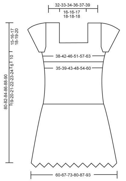 схема вязания летнего платья