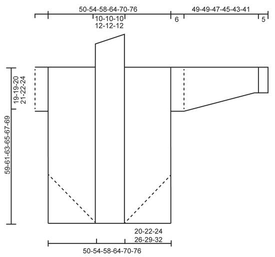 Необычный теплый жакет - cхема вязания от DROPS DESIGN