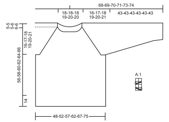 Джемпер Лонг Бич - cхема вязания от DROPS DESIGN