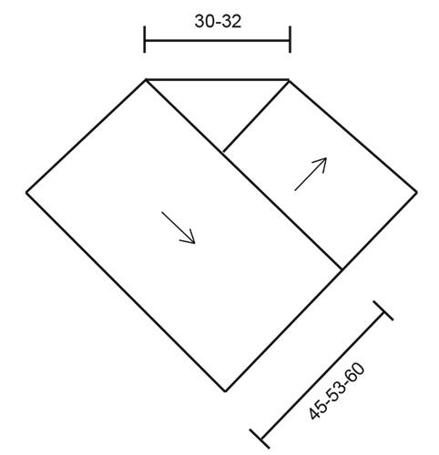 Вязание пончо из двух прямоугольников 86