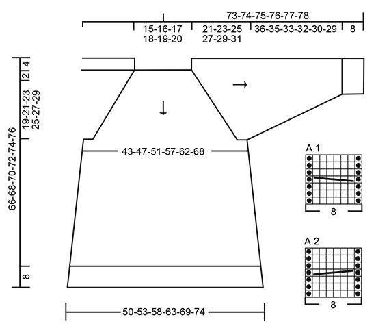 Джемпер: Туманное озеро - cхема вязания от DROPS DESIGN