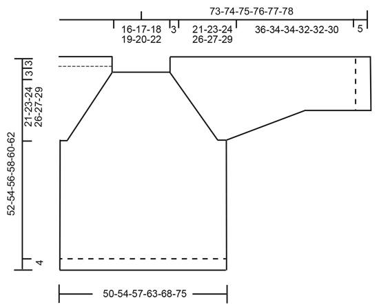 Джемпер Clover - cхема вязания от DROPS DESIGN